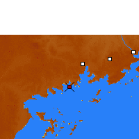 Nearby Forecast Locations - Энтеббе - карта