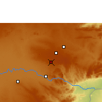 Nearby Forecast Locations - Mount Makulu - карта