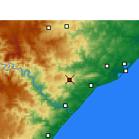 Nearby Forecast Locations - Eshowe - карта