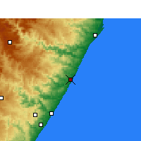 Nearby Forecast Locations - Sezela - карта