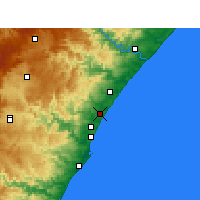 Nearby Forecast Locations - Tongaat - карта