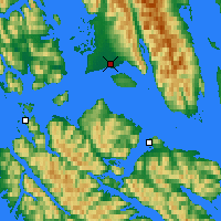 Nearby Forecast Locations - Gustavus - карта