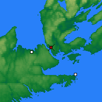 Nearby Forecast Locations - Port Hawkesbury - карта