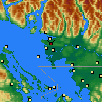 Nearby Forecast Locations - Делта - карта