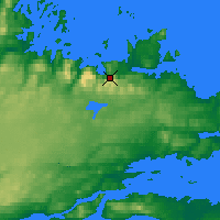 Nearby Forecast Locations - Tukialik Bay - карта