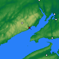 Nearby Forecast Locations - Fundy Park Cs - карта
