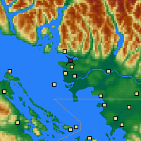 Nearby Forecast Locations - Vancouver Hrbour - карта