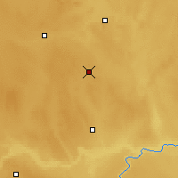 Nearby Forecast Locations - Oyen - карта