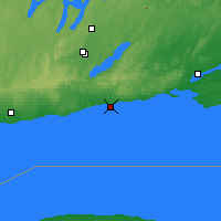 Nearby Forecast Locations - Cobourg - карта