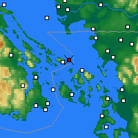 Nearby Forecast Locations - Saturna Island - карта