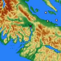 Nearby Forecast Locations - Port Alberni - карта