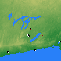 Nearby Forecast Locations - Peterborough Trent - карта