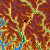 Nearby Forecast Locations - Callaghan Valley - карта