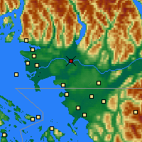 Nearby Forecast Locations - Pitt Meadows - карта