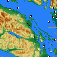 Nearby Forecast Locations - Baie-Comeau - карта