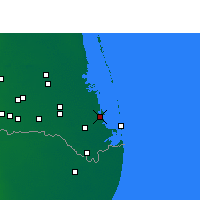 Nearby Forecast Locations - Port Isabel - карта