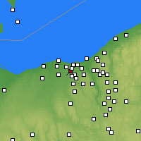 Nearby Forecast Locations - North Olmsted - карта