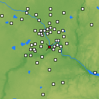 Nearby Forecast Locations - Миннеаполис - карта
