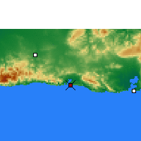 Nearby Forecast Locations - Sant. Cuba - карта