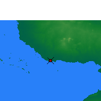 Nearby Forecast Locations - Santa Cruz del Sur - карта