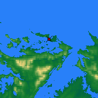 Nearby Forecast Locations - Пеббл - карта