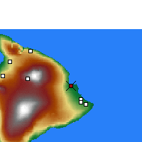 Nearby Forecast Locations - Hilo/Hawaii - карта