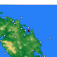 Nearby Forecast Locations - Purerua Peninsula - карта