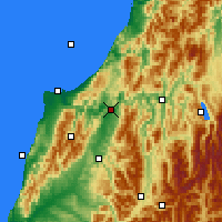 Nearby Forecast Locations - Inangahua Junction - карта