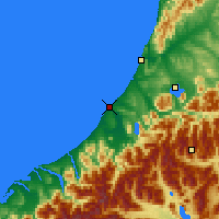 Nearby Forecast Locations - Hokitika - карта