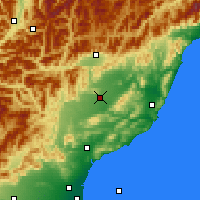 Nearby Forecast Locations - Culverden - карта