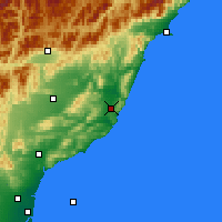 Nearby Forecast Locations - Cheviot - карта