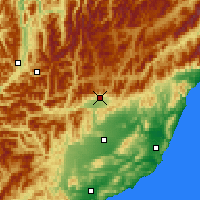Nearby Forecast Locations - Hanmer Springs - карта