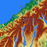 Nearby Forecast Locations - Mount Cook NP - карта