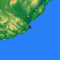 Nearby Forecast Locations - Nugget Point Aws - карта