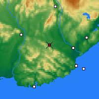 Nearby Forecast Locations - Clinton - карта