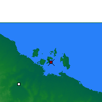 Nearby Forecast Locations - Centre Island - карта