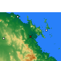 Nearby Forecast Locations - Proserpine - карта