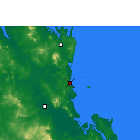 Nearby Forecast Locations - Yeppoon - карта