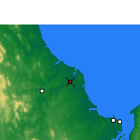 Nearby Forecast Locations - Бандаберг - карта