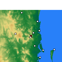 Nearby Forecast Locations - Baroon Pocket Dam - карта
