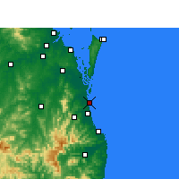 Nearby Forecast Locations - Gold Coast Seaway - карта
