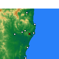 Nearby Forecast Locations - Alstonville - карта