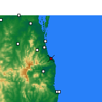 Nearby Forecast Locations - Coolangatta - карта