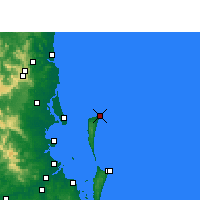 Nearby Forecast Locations - Cape Moreton - карта