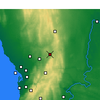 Nearby Forecast Locations - Nuriootpa - карта