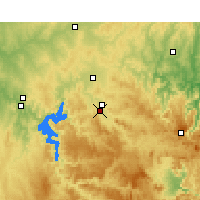 Nearby Forecast Locations - Mudgee - карта