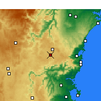 Nearby Forecast Locations - Moss Vale - карта