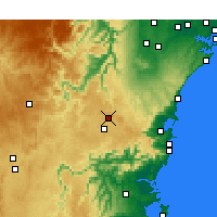 Nearby Forecast Locations - Bowral - карта