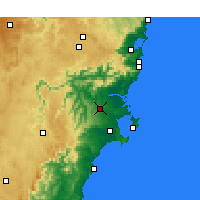Nearby Forecast Locations - Nowra - карта