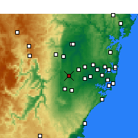Nearby Forecast Locations - Badgery's Creek - карта